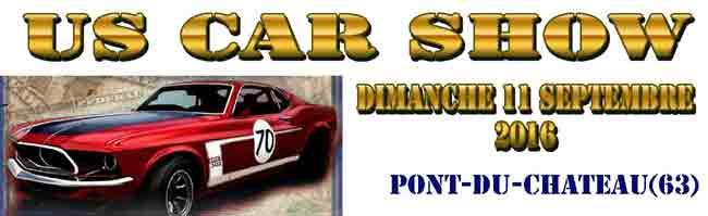US Car Show 2016, rassemblement de voitures am�ricaines � Pont-du-Chateau (63)