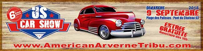 US Car Show 2018, rassemblement de voitures américaines à Pont-du-Chateau (63)